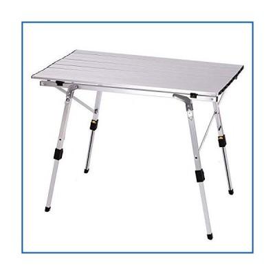 <新品>Folding Table Aluminum Alloy Outdoor Portable Suitable for Camping, Outdoor Activities, Self-Driving Tours, Picnic Tables, Barbe
