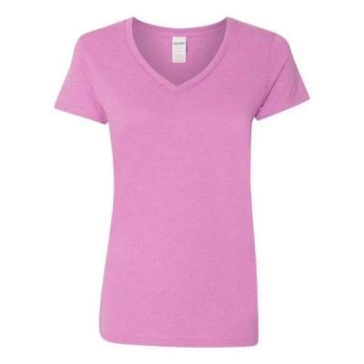 レディース 衣類 トップス Heavy CottonTM Women's V-Neck T-Shirt - Gildan - NIB Tシャツ