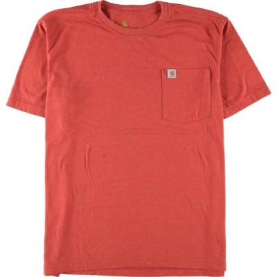カーハート Carhartt RELAXED FIT ワンポイントロゴポケットTシャツ メンズL /eaa151650
