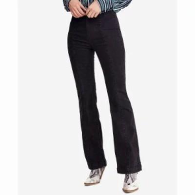 フリーピープル ジーンズ・デニム Flared Pull-On Jeans Black