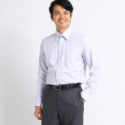 タケオ キクチ TAKEO KIKUCHI 【Sサイズ~】市松紋柄 ビジネスシャツ (ライトパープル)