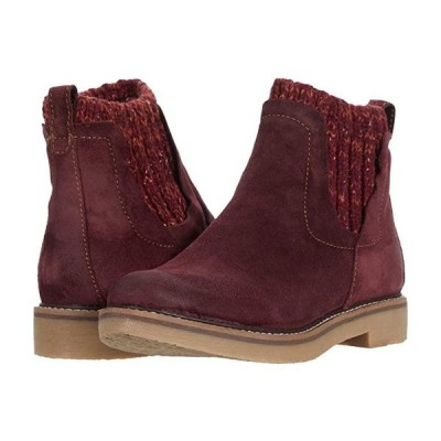 Comfortiva Rawnie レディース ブーツ Mosto Red Oiled Cow Suede
