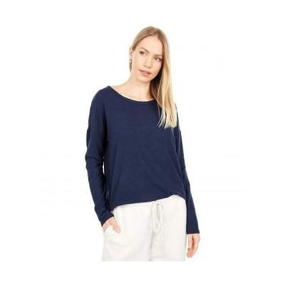 Lucky Brand ラッキーブランド レディース 女性用 ファッション Tシャツ Hacci Crew - American Navy