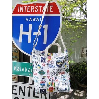 ハワイアンヴィンテージ2WAYバッグ(ハワイアンロゴ) アメリカ雑貨 アメリカン雑貨