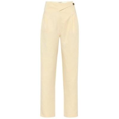 ブレイズ ミラノ Blaze Milano レディース ボトムス・パンツ Basque Linen And Silk High-Rise Pants Butter