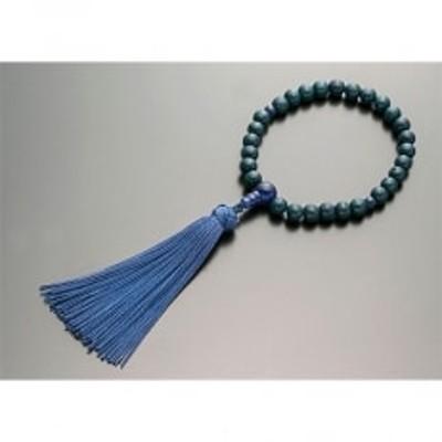 お子様用数珠(念珠) 星月菩提樹 (藍染) ソーダライト仕立 正絹花かがり房