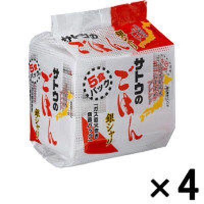 サトウ食品サトウのごはん 銀シャリ 7224704 1セット(5食入×4パック) サトウ食品