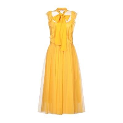 レリッシュ RELISH 7分丈ワンピース・ドレス オークル XS ポリエステル 100% 7分丈ワンピース・ドレス