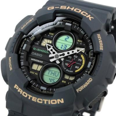 送料無料 腕時計 CASIO カシオ 海外モデル GA-140-2A G-SHOCK Gショック アナログ デジタル ブラック×ブルー BALCK×BLUE メンズ