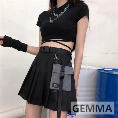カーゴスカート レディース ミニスカート キュロットスカート ハイウエスト かっこういい Aライン 着痩せ 韓国ダース 少女 御姉