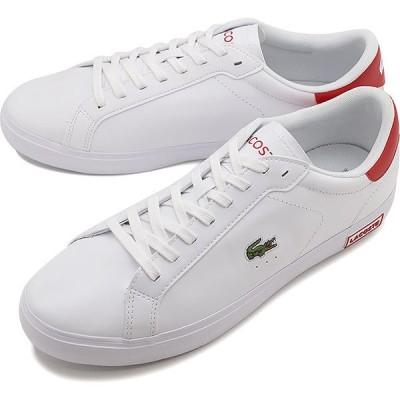 ラコステ LACOSTE スニーカー パワーコート M POWER COURT 0520 1 SM00600-286 FW20 メンズ ローカットシューズ 靴 WHT RED ホワイト系