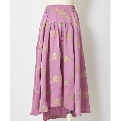 【Rosarymoon(ロザリームーン)】 17RF-1504-リースエンブロイダリースカート