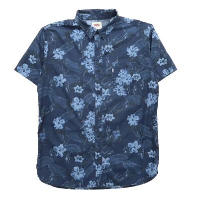 リーバイス Levi's アロハシャツ ハワイアンシャツ ネイビー サイズ表記:L