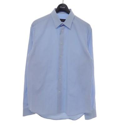 LOUIS VUITTON GASTON FIT 長袖シャツ ブルー サイズ:39 (京都店) 210616