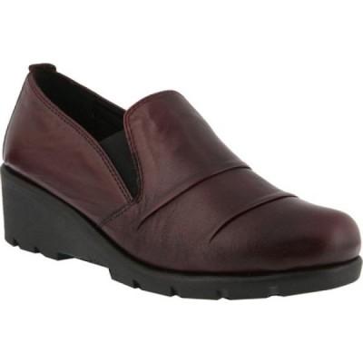 スプリングステップ Spring Step レディース スリッポン・フラット シューズ・靴 Anahita Slip On Bordeaux Leather
