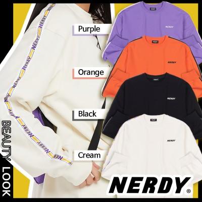【NERDY】20-21FW新作★BIG N TAPE SWEATSHIRTS 4色★大人気