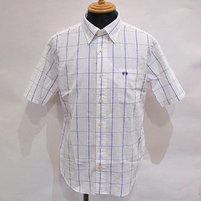 マックレガー McGREGOR メンズ 半袖チェック柄ボタンダウンシャツ (アウトレット50%OFF) 半額 通常販売価格:11000円