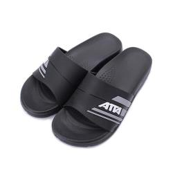 ATTA 運動風圖紋室外拖鞋 黑 1191014 男鞋
