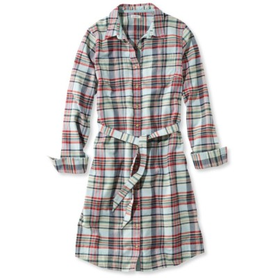 ボタンフロント・プラッド・シャツ・ドレス