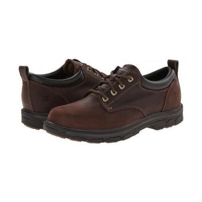 SKECHERS スケッチャーズ メンズ 男性用 シューズ 靴 オックスフォード 紳士靴 通勤靴 Segment Relaxed Fit Oxford - Brown