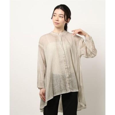 シャツ ブラウス 【&Premium6月号掲載】mizuiro ind ピグメントダイフレアシャツ