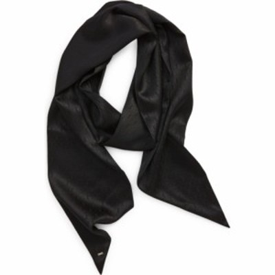 イヴ サンローラン SAINT LAURENT レディース マフラー・スカーフ・ストール スキニー YSL Monogram Silk Skinny Scarf Black