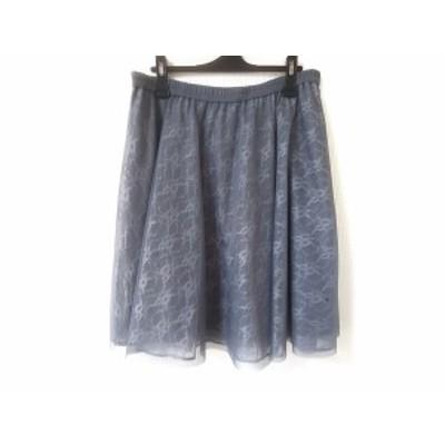ローズティアラ Rose Tiara スカート サイズ46 XL レディース 美品 - グレー ひざ丈/レース【中古】20210124