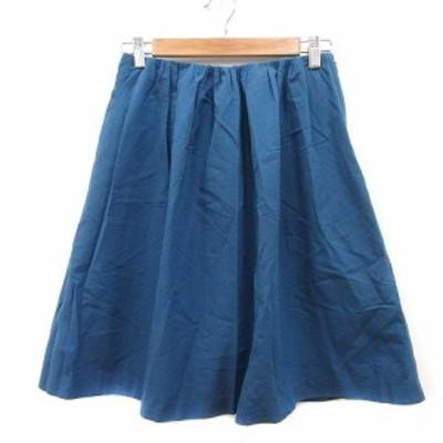 【中古】ボールジー BALLSEY トゥモローランド フレアスカート ひざ丈 38 青 ブルー /MN レディース