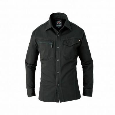 BURTLE バートル 5205 長袖シャツ ストームグレー Mサイズ 秋冬用 メンズ 綿素材 防縮 作業服 作業着 5201シリーズ