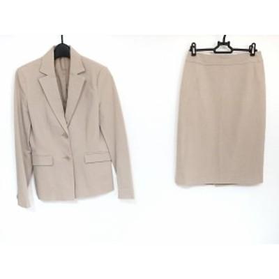アナイ ANAYI スカートスーツ サイズ38 M レディース - ベージュ 肩パッド【還元祭対象】【中古】20200926