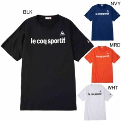 ルコックスポルティフ Tシャツ  メンズ ユニセックス サンスクリーンエアスタイリッシュ半袖シャツ QMMRJA08