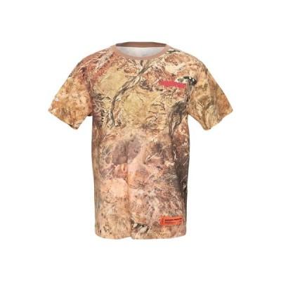 ヘロンプレストン Heron Preston  メンズ Tシャツ カットソー トップス ベージュ