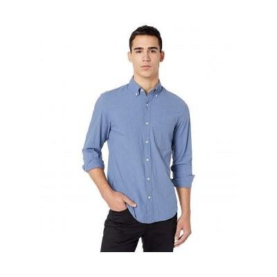 J.Crew メンズ 男性用 ファッション ボタンシャツ Slim Stretch Secret Wash Shirt in Heathered Organic Cotton - Heather Royal