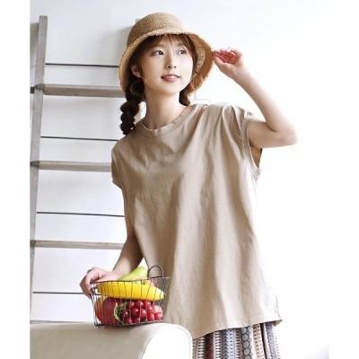 tシャツ Tシャツ ピグメント加工 ヴィンテージ風 Tシャツ[フレンチスリーブ]