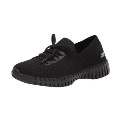 Skechers womens Go Walk Smart Deco Lace Slip on Sneaker, Black, 6.5 US