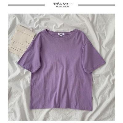 半袖Tシャツ レディース Tシャツ ゆったり 夏 カットソー 半袖 クルーネック サマーTシャツ 無地 半袖Tシャツ 夏Tシャツ ラウンドネック