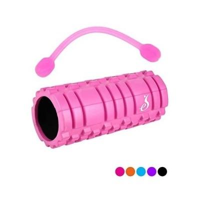[eS](エス) フォームローラー のびーるストレッチ付 5色 身体メンテナンス Foam Roller (ピンク)