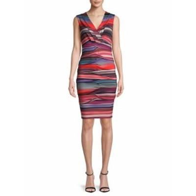 ニコールミラー レディース ワンピース Dakota V-Neck Knee-Length Dress