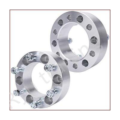 新品IRONTEK 2 inch 6x5.5/6x139.7mm Wheel Spacers (108mm Bore 12x1.5 Studs) 6 Lug Wheel Spacer Adapters for Toyota Tacoma/4-Runner/FJ Cruis