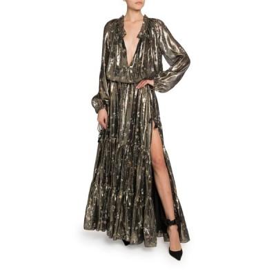 アルチュザラ レディース ワンピース トップス Shimmer Long-Sleeve V-Neck Dress
