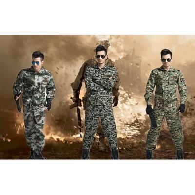 上下セット サバイバルゲーム 戦闘服 タクティカル カモフラージュ 特殊部隊 迷彩服 男女兼用