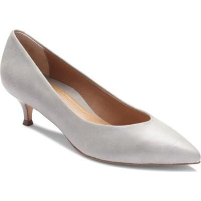 バイオニック Vionic レディース パンプス キトゥンヒール シューズ・靴 Josie Kitten Heel Pump Light Grey Leather