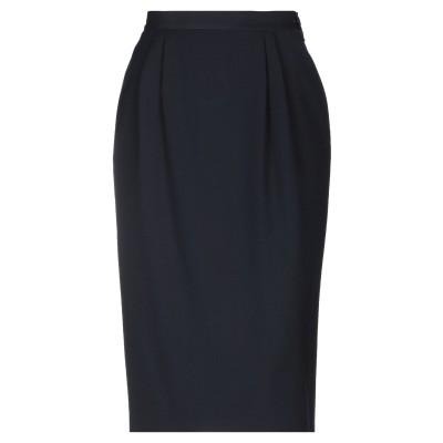 GIORGIO GRATI 7分丈スカート ダークブルー 44 ウール 100% 7分丈スカート