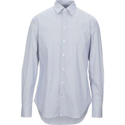 アルマーニ ARMANI COLLEZIONI メンズ シャツ トップス striped shirt Blue