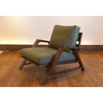 RM Sofa 1人掛けソファ 選べる背もたれシリコン綿タイプ ナラ無垢材