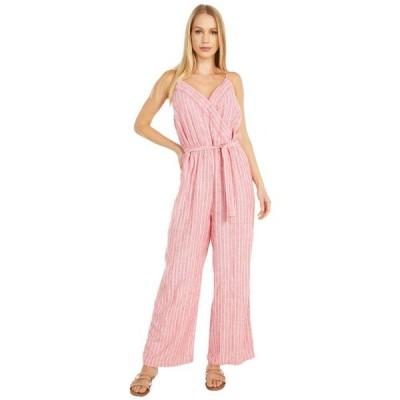 ヴィンスカムート レディース 服  Sleeveless Tranquil Stripe Wrap Front Jumpsuit