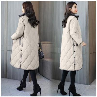 中綿コートダウン風コートレディースロング丈ダウン風ジャケット冬アウターゆったり暖かい大きいサイズ40代50代