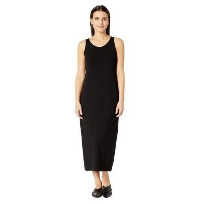 エイリーンフィッシャー レディース ワンピース トップス Petite Viscose Jersey Scoop Neck Dress