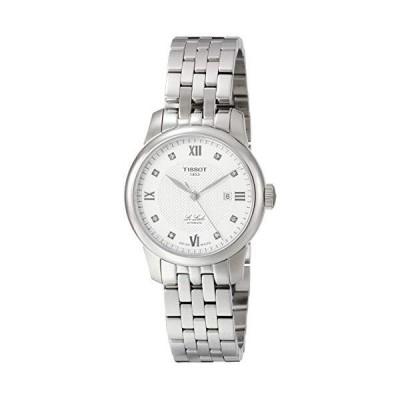 海外限定 Tissot Le Locle Automatic Diamond Silver Dial Ladies Watch T006.207.11.036.00