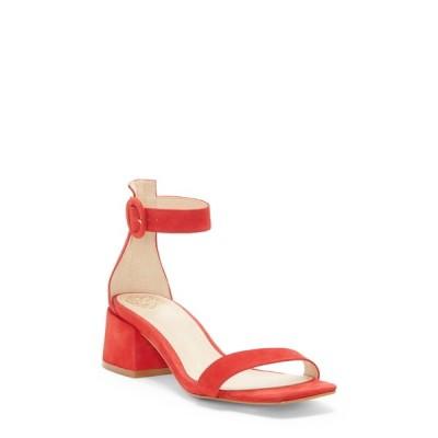 ヴィンスカムート レディース サンダル シューズ Vallina Block Heel Sandal RED 02